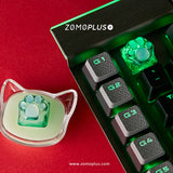 3D PRINTED RESIN & SILICONE TRANSPARENT KITTY PAW ARTISAN KEYCAP