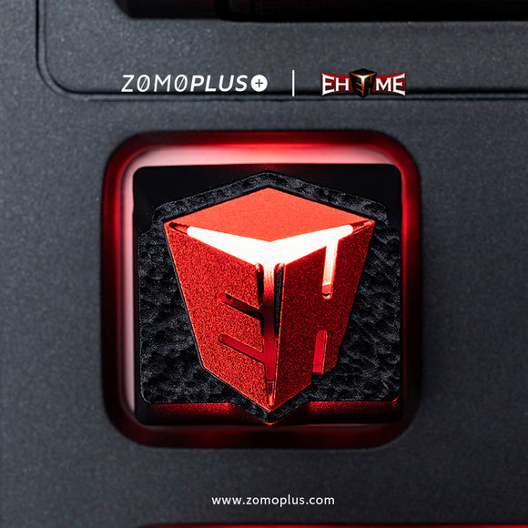 ZOMOPLUS X EHOME OFFICIAL COLLABORATION TRANSLUCENT ALUMINUM ARTISAN KEYCAP