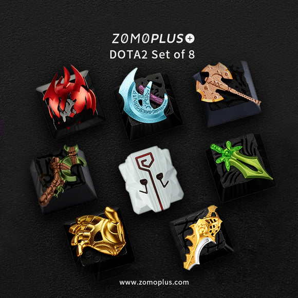 DOTA2 SERIES ALUMINUM ARTISAN KEYCAP SET OF 8