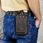 Real Leather Phone Pouch Bum Bag