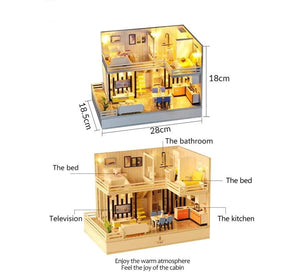 Bluetooth Wooden Doll House Set