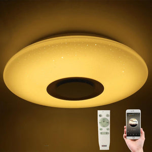 LED Ceiling Light Lamp with Bluetooth Speaker Remote - App Controlled