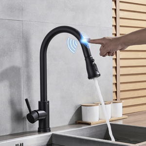 Smart Touch Sensor Kitchen Faucet with Pull Down Sprayer