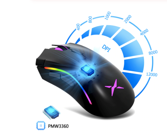 M625 Gaming Mouse - 7 Buttons & RGB Backlight