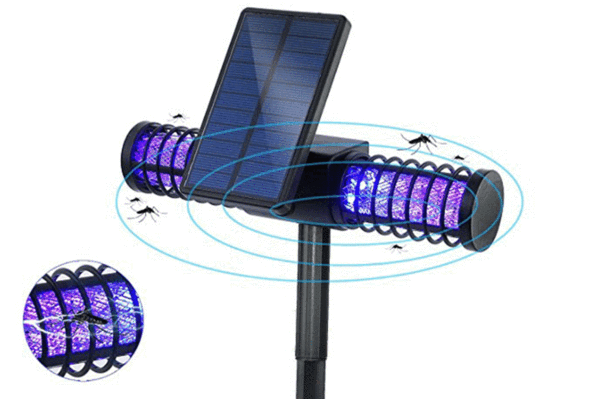 Solar Panel Powered UV Mosquito Killer Bug Zapper