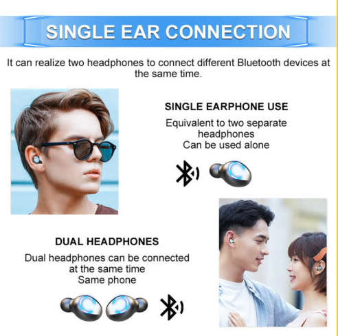 Waterproof Phone Charging Wireless Earphones