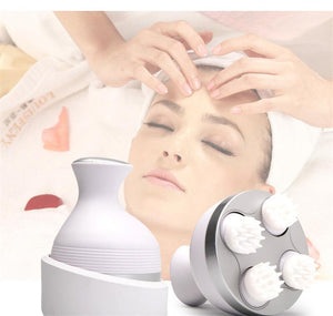 Waterproof Electric Head and Body Massager - Deep Tissue Kneading