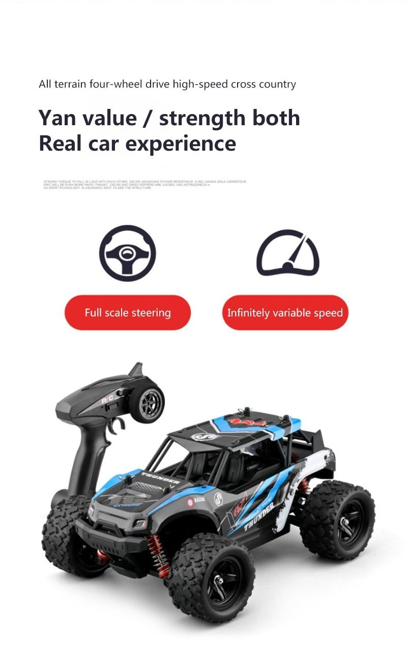 1:18 4WD Remote Control Car 50 km/h
