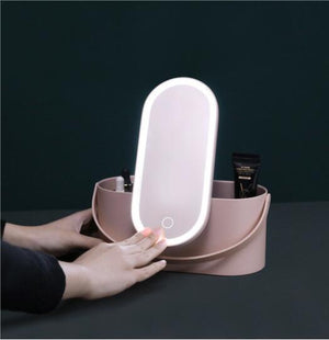 Portable Makeup Case With LED Mirror