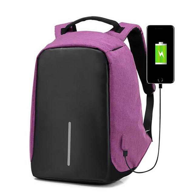Anti-Theft USB Unisex Backpack