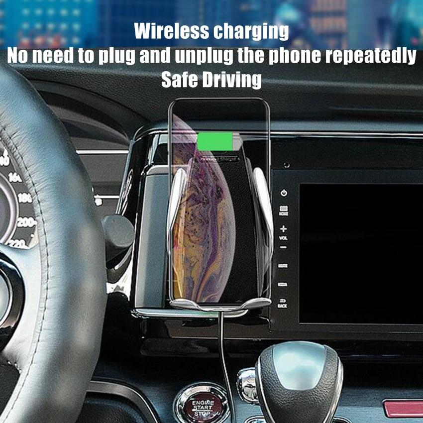 Automatic Clamping Wireless Car Charger for iPhone & Android