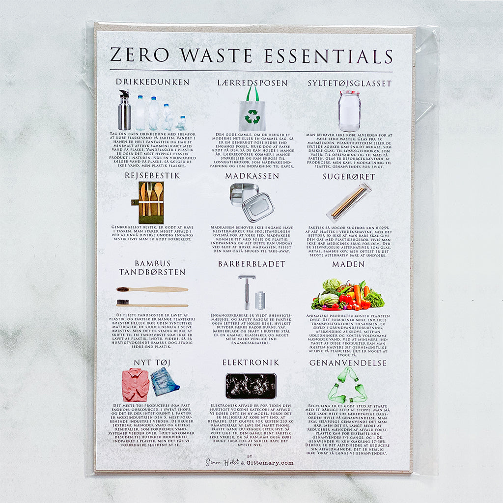 Klimakort - Zero Waste Essentials (15 x 21 cm)