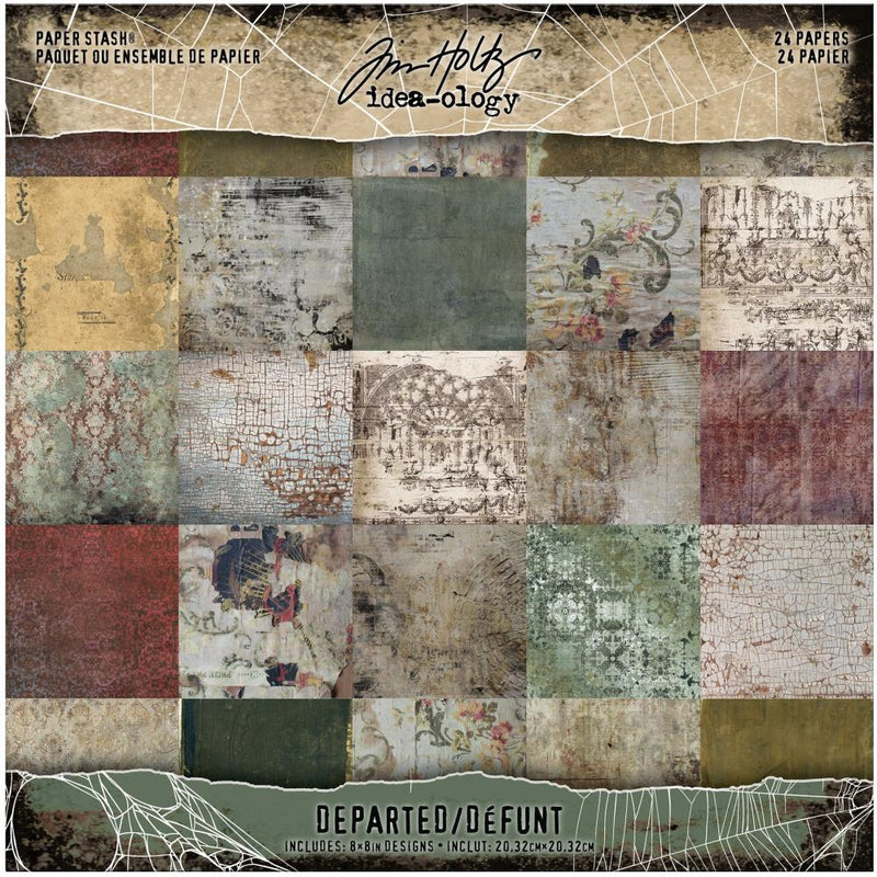 Tim Holtz - Idea-ology - Paper Stash - Departed -    8 x8""