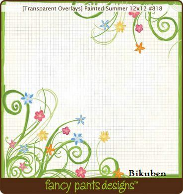 Fancy Pants: Painted Summer Transparent Overlay  12 x 12""