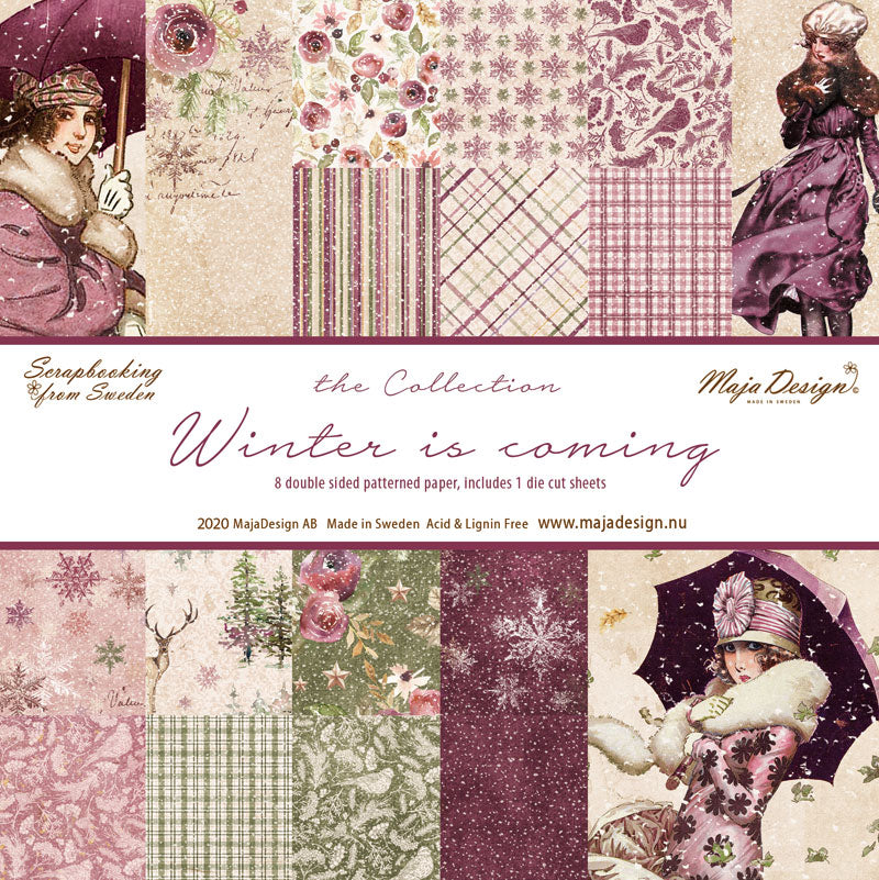 Maja Design - Winter is coming - Paper Pack - Hele serien (8 ark ) -   12 x 12""