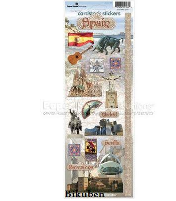 Paper House: Spain Cardstock Stickers