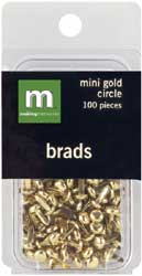 Making Memories: Mini Gold Circle Brads