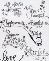 Rhonna Farrer Clear Stamps: Word Art