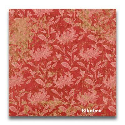 K & Company: Hannah Red Floral Flat Paper