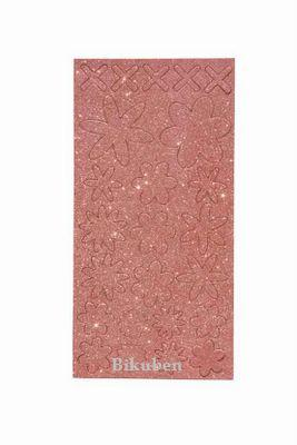 Melissa Frances: Pink Glitter Chipboard Flowers