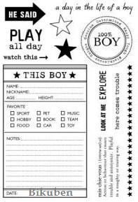 October Afternoon: All Boy Clear Stamps