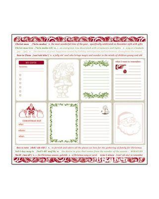 Creative Imaginations: Noel Sticker Sheet    12 x 12""