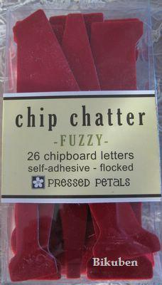 Chip Chatter Fuzzy RED 5""