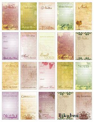 Marah Johnson: Wine Journaling Cards
