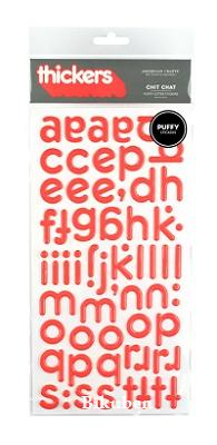 Thickers: Chit Chat - GRAPEFRUIT  Puffy Letter Stickers