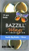 Bazzill: Really big brads 18mm - Gold