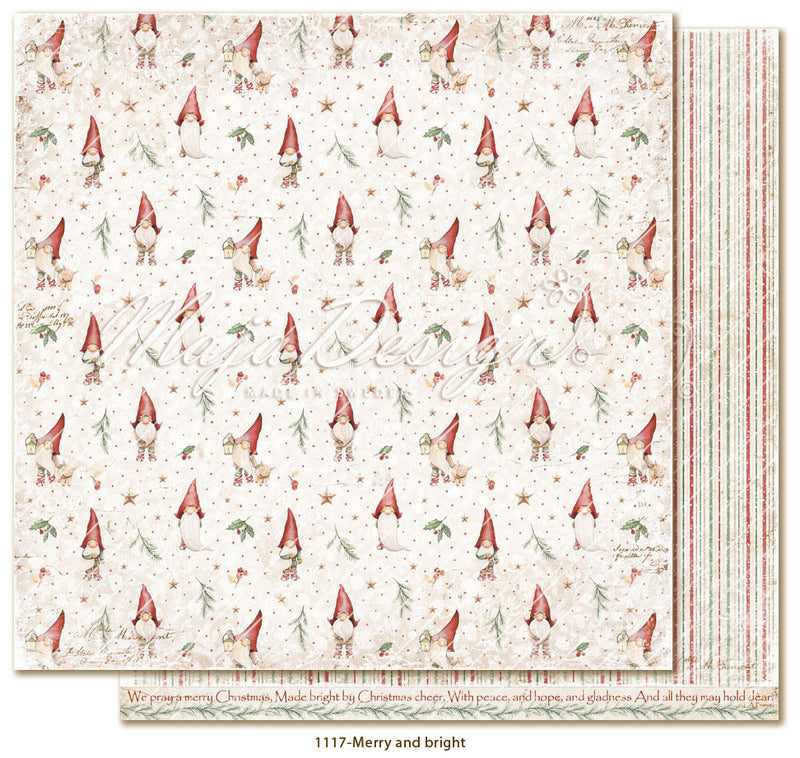 Maja Design - Traditional Christmas - Merry and Bright -   12 x 12""