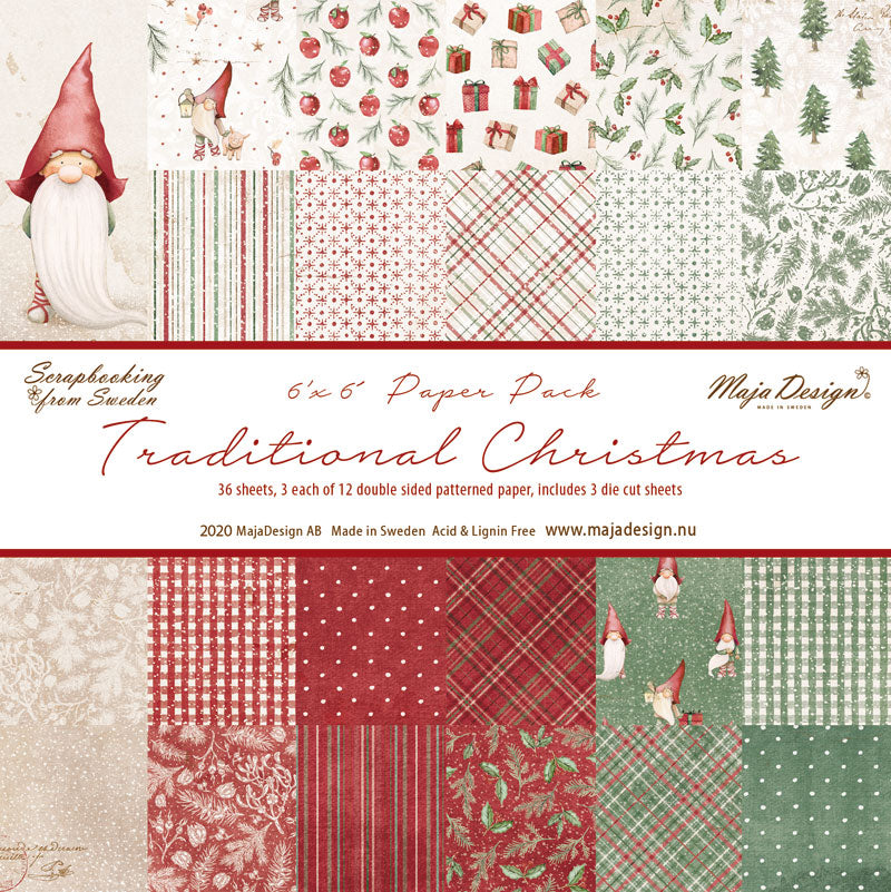 Maja Design - Traditional Christmas - Paper Pack -   6 x 6""