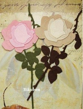 Prima: De Vines - Felt Roses Pink & Brown