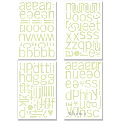 Basic Grey: Kioshi - Chip Sticker ABC's - Chipboard