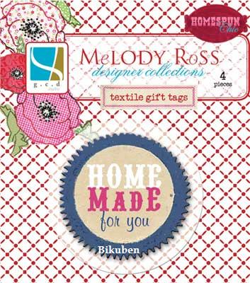Melody Ross: Homespun Chic Coll - Textile Gift Tags  (round)