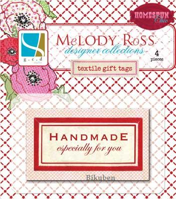 Melody Ross: Homespun Chic Coll - Textile Gift Tags  (handmade)