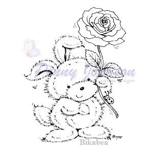 Penny Johnson: Rosie Rabbit    Clear Stamp
