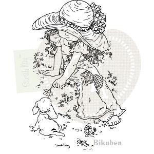 Sarah Kay: Isabelle with puppy Coco    Clear Stamp
