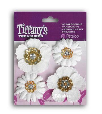 Petaloo: Tiffanys Treasures - Flower Charms DIAMOND WHITE