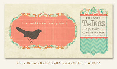"So Sophie - Clever - ""Birds of a Feather""  ACCESSORIES CARD"