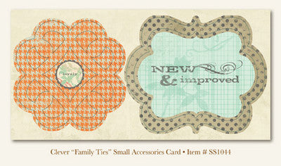 "So Sophie - Clever - ""Family Ties""  ACCESSORIES CARD"