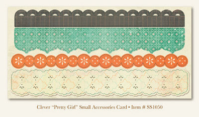 "So Sophie - Clever - ""Pretty Girl""  ACCESSORIES CARD"