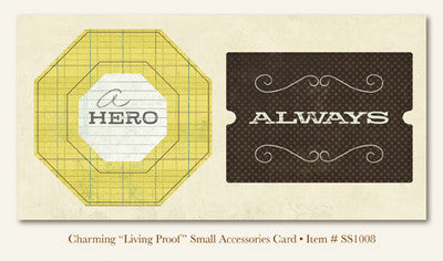 "So Sophie - Charming - ""Living Proof""  ACESSORIES CARD"