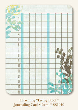 "So Sophie - Charming - ""Living Proof""  JOURNAL CARD"