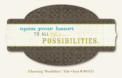 "So Sophie - Charming - ""Possibilities""  TITLE"