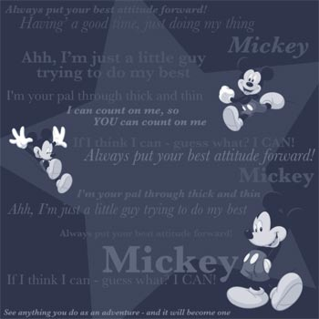 Disney: Mickey Mouse Tonal Phrases Paper 12 x 12
