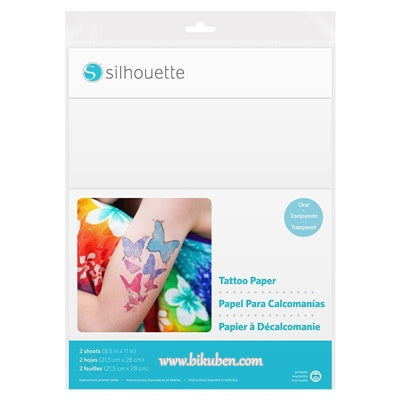 Silhouette - Printable Tattoo Paper - Clear