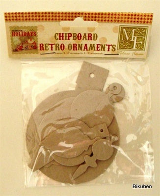 Melissa Frances: Home for the Holidays - Chipboard retro ornaments