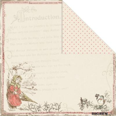 Creative Imaginations: Lullaby Girl Collection: Bo Peep 12x12""