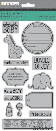 TPC Studio - Sweet Beginnings - Cling Stamps